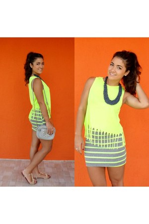 Steve Madden shoes - chartreuse Forever 21 shirt - Chicwish skirt