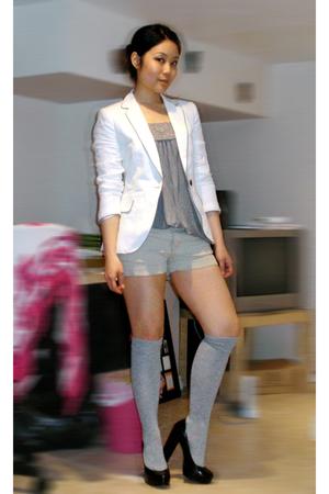 Forever21 top - Zara blazer - American Eagle shorts - Forever21 socks - Aldo sho