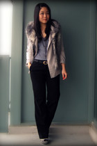 silver Aldo shoes - silver Silence & Noise blazer - heather gray BB Dakota vest