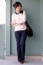 Navy-parasuco-jeans-black-oasapcom-bag-off-white-uniqueen-blouse
