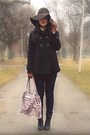 Black-spring-boots-black-zara-coat-navy-uniqlo-jeans-dark-brown-h-m-hat-
