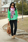 Navy-seven7-jeans-green-polkadot-old-navy-sweater-green-vero-moda-blazer