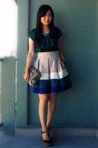 gray Mexx bag - army green Jeffrey Campbell wedges - heather gray multicolor Zar