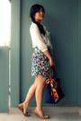 H-m-skirt-nine-west-shoes-longchamp-bag-h-m-blouse