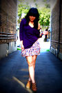 Purple-nation-ltd-top-pink-zara-skirt-brown-aldo-shoes