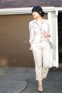 Gray-silence-noise-blazer-pink-zara-blouse-beige-h-m-pants-beige-aldo-sh