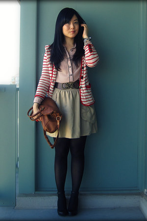 red Urban Outfitters blazer - tawny the sak bag - dark brown Urban Outfitters be