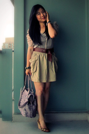 sam edelman shoes - from mom bag - Topshop belt - H&M skirt