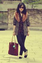 Forever 21 jacket - parasuco jeans - H&M scarf - Michael Kors bag