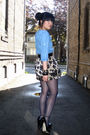 Blue-h-m-dress-gold-forever-21-skirt-blue-h-m-stockings-black-h-m-accessor