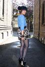 Blue-h-m-dress-gold-forever-21-skirt-blue-h-m-stockings-black-h-m-accessor