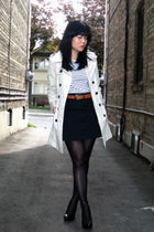 beige trench Zara coat - black Aldo shoes - white worn as top H&M dress