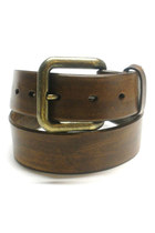 dark brown leather Birdhouse Designs belt