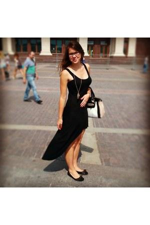 black high low cotton beefree dress - white favorite bag Accessorize purse