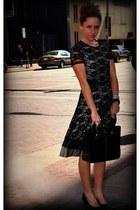 lace Kristina J dress - kate spade bag - Steve Madden heels - Anthropologie watc