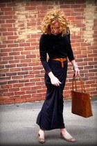 leopard Steve Madden shoes - Kristina J dress - leather Nine and Company bag - l