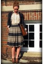 UO shoes - Nine & Co bag - Anthropologie skirt - Anthropologie blouse - Loft car