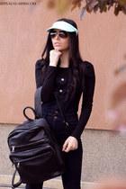 Stradivarius hat - Stradivarius bag - Ray Ban sunglasses - H&M romper