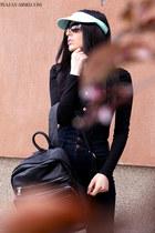 Stradivarius hat - Stradivarius bag - H&M jumper