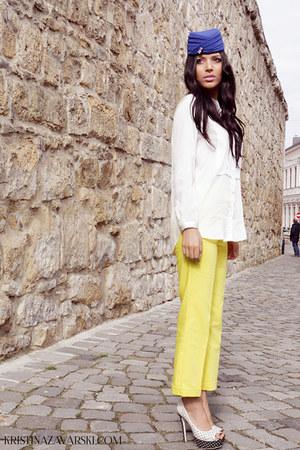 H&M shirt - Zara pants - Kristina Zavarski hair accessory