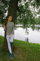 sweater - Primark jeans - blue Adidas sneakers