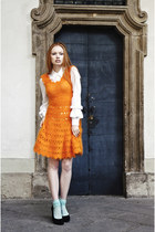 angora crochet vintage dress - Comme des Garcons for H&M blouse