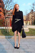 tan python print Emilio Cavallini tights - black Marni bag