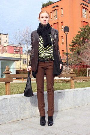 black Giuseppe Zanotti boots - brown J Brand jeans