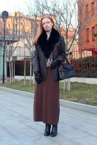 black Serapian bag - black Geox boots