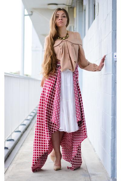 Shirt-skirt-heels