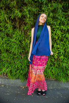 skirt - scarf - top