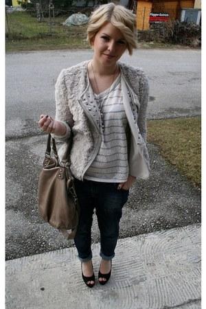 periwinkle Zara jacket - blue Zara jeans - white Forever21 shirt