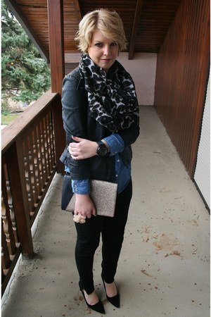 Mango jacket - Mango scarf - clutch Zara bag - HUBLOT watch - Forever 21 ring