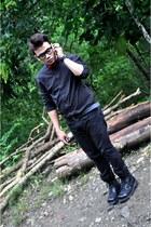 black boots Military boots boots - black dress Penshoppe dress - bold bench belt