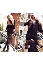 denim jacket romwe jacket - Black Milk Clothing leggings - Market HQ top