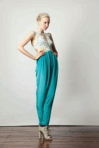heather gray Zara shoes - turquoise blue random brand pants