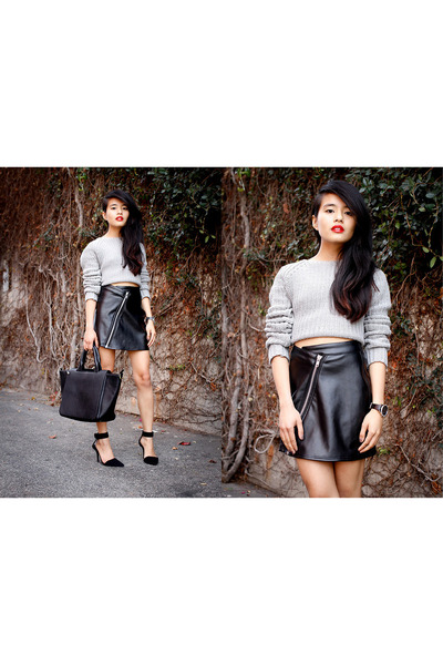 black Motel skirt - heather gray Alexander Wang jumper