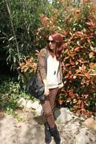 carrefour boots - Oysho jacket - Zara shirt - BLANCO bag - Oscar de la Renta sun