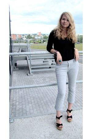 black La Redoute shoes - Reserced pants - silver
