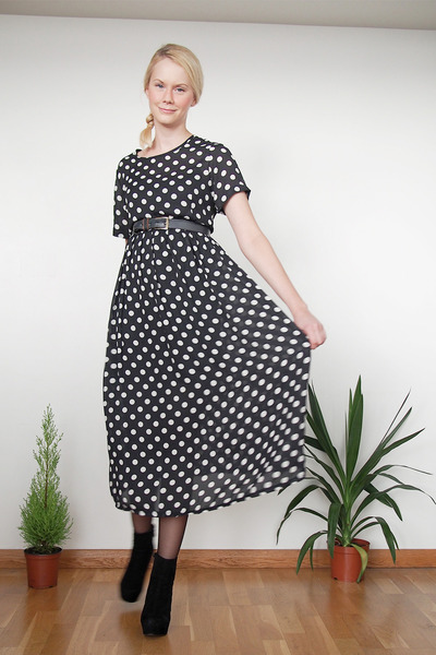 black Krossy dress