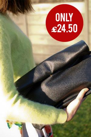 black Krossy bag - lime green Krossy jumper