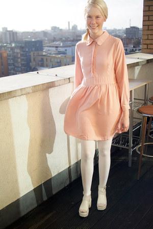 light pink dress - ivory sandals