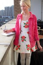 ivory Krossy dress - red Krossy shirt