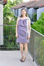 Light-purple-diy-dress-chartreuse-swapped-earrings