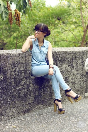 sky blue Zara pants