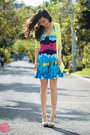 Sky-blue-house-of-eva-dress-white-aldo-heels-lime-green-wagw-cardigan