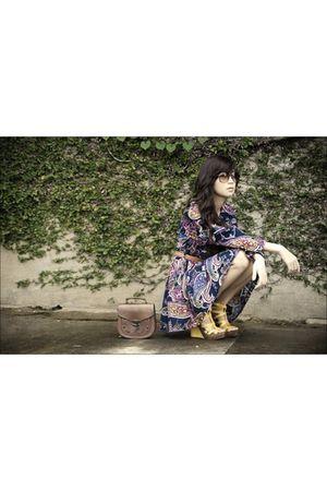 blue httpwagwmultiplycom coat - yellow michael antonio shoes - brown vintage bag