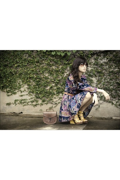 blue httpwagwmultiplycom coat - yellow michael antonio shoes - brown vintage bag