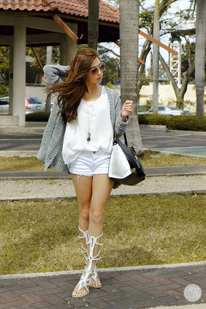 white tonic sandals