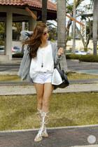 white tonic sandals
